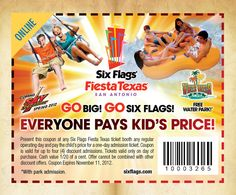 picture regarding Six Flags Printable Coupons identify 10 Perfect 6 Flags Discount coupons photos in just 2019 Printable discount codes