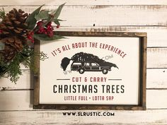 Christmas trees wood sign - Christmas vacation - National Lampoon - Little full lotta sap Pottery Barn Christmas, Christmas Signs Wood, Holiday Signs, Christmas Door, Christmas Holidays, Christmas Decorations, Merry Christmas, Christmas Vacation Quotes, Christmas Quotes