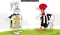 Charge do Dum (Zona do Agrião) sobre a venda de mando de campo do América (09/10/2016) #Charge #Dum #América #Coelho #Atlético #Galo #Palmeiras #HojeEmDia