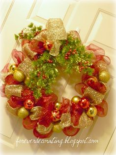 All That Glitters Wreath Tutorial    Don't you really love the long, wide mesh product that has been out on the market for the past couple of years? It is very glittery and it makes a beautiful garland for trees and other uses. And it's softer than it looks to the touch. I also think it's fun to work with and thought you would enjoy this quick tutorial on making a mesh wreath.     Step 1: Gather your supplies      Glittery Stems, Holiday Ornament Balls and Mesh Ribbon for embellishment…