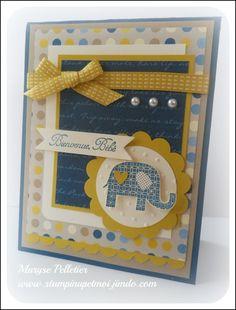 Cute elephant baby card