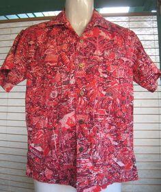 RARE SHAHEEN Hawaiian Shirt 1957 International by Flipsville