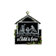 Chalkboard Nativity The Round Top Collection C9102