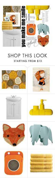 """woodland bath/kid edition"" by mercimasada ❤ liked on Polyvore featuring interior, interiors, interior design, home, home decor, interior decorating, Seletti, Vitra, bathroom and bath"