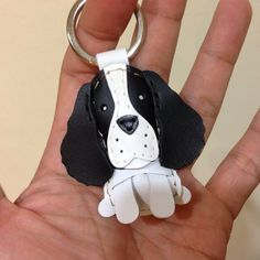 Harley the Springer Spaniel leather keychain  by leatherprince, $21.90