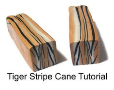 PDF Instant download. In this polymer clay tutorial, you will learn how to create a tiger striped polymer clay cane. This cane is a lovely design that creates beautiful animal print slices.