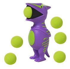 """Squeeze the belly on these adorable characters and shoot a soft foam ball up to 20 feet! The squeeze poppers make a great """"popping"""" noise when launching the ball!."""