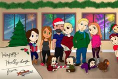 Our Xtreme team Holiday cards. Digital art.