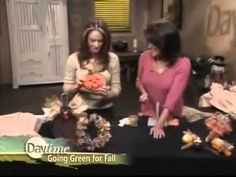 ▶ Eco-Friendly Thanksgiving Craft Ideas to Decorate Your Home by Sandy Sandy of Bowdabra - YouTube