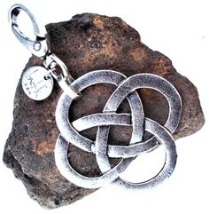 silver plated metal keychain celta by inatanka on Etsy
