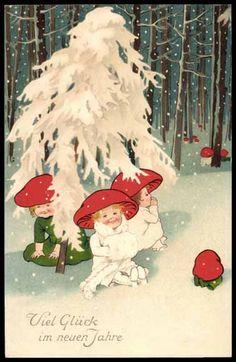 mushrooms in the snow 1