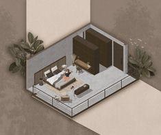 Interior Presentation, Presentation Layout, Presentation Boards, Interior Architecture, Interior Design, Terrazzo, Landscape Design, Behance, Architectural Sketches