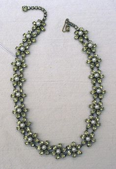 Necklace Date: 1950s Culture: French Medium: metal, stones, pearls Dimensions: Length: 17 1/2 in. (44.5 cm) Credit Line: Gift of Mrs. Beatrice Glass, 1974