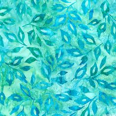 Greenhouse 3 - Garden Leaves Batik - Sea Glass Green