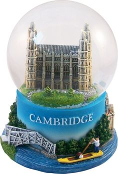 A wonderful snowglobe made by Thomas Benacci Shows Kings College Chapel in fine detail.