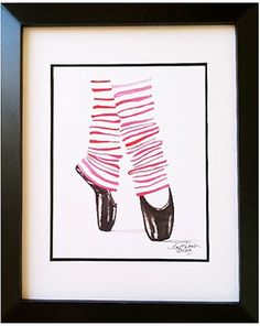 @rosenberryrooms is offering $20 OFF your purchase! Share the news and save!  Ballet Shoes Art Print #rosenberryrooms