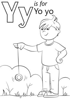 Letter Y Is For Yo Coloring Page From Category Select 26388 Spelling GamesPrintable CraftsFree