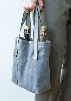 This Wine Tote Pattern and Tutorial makes a unique DIY Christmas gift idea!