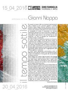 """Claudia Del Giudice per """"Il tempo sottile"""" di Gianni Nappa / Gino Ramaglia - Artisti in Vetrina, Napoli 15>30 aprile 2016"""