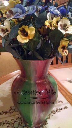Step by step tutorial to create a restored thrift store vase using an amazing new water based gel stain called Unicorn Spit.