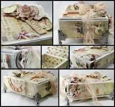 Here is a cigar box I altered. I used the Prima Romance Novel collection.     You can purchase this box in my etsy store .           Thank...