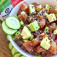 Ahi Tuna Poke exclusively from @kathryns_kitchen!  #positivehealthwellness #food #healthy #instagood