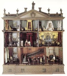 18th century dollhouse. got to have something for the women....as I said the women.