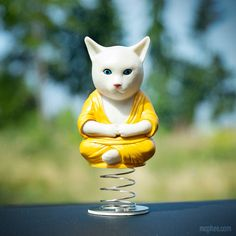 Dashboard Cat Buddha helps remind you to keep cool in traffic....