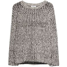 Mango Monochrome Sweater (40 AUD) ❤ liked on Polyvore featuring tops, sweaters, jumpers, outerwear, shirts, white long sleeve sweater, white sweater, long-sleeve shirt, mango sweater and white long sleeve shirt