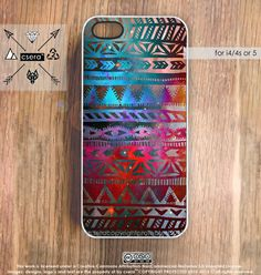 Tribal Galaxy iPhone Case Galaxy iPhone 5 Case, iPhone 4 Case, Aztec iPhone Case, Silicone iPhone Case or Plastic