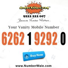 Buy IVR service and easy to remember VIP Mobile numbers or vanity numbers online of your choice at numberwale. Our consultant Dial 9222 222 007 now! Fancy Numbers, Virtual Receptionist, Vip, India, Easy, Stuff To Buy, Rajasthan India, Indie, Indian