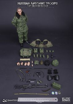 onesixthscalepictures: DAM Toys RUSSIAN AIRBORNE TROOPS -PKP GUNNER : Latest product news for 1/6 scale figures (12 inch collectibles).