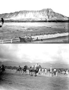 Horse racing was a popular pastime at Kapi'olani Park. This photo from the Hawaii State Archives is undated.