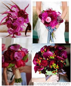 Krisztina Williams: Wedding Inspiration: Formal Wedding in Radiant Orchid with Gold