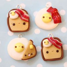 Breakfast anyone? Just a heads up, I'm going to be uploading yet another new charm this Saturday! #polymerclay