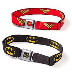 ThinkGeek :: Superhero Belts. Wonder Woman please:)