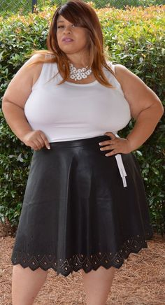 Plus Size Embossed Faux Leather Skirt | Plus Size Skirts ...