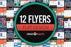 Flat Design Corporate Flyer Bundle by Creativenauts on @creativemarket