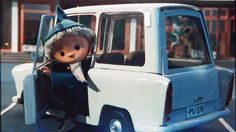 Sandman mit einem Trabant-Kombi