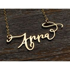 Calligraphy Necklace - 24kt Gold Plated