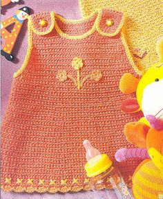 Aneiro Crochet: Baby clothes/ Not legible print, too small and in Spanish. Baby Girl Crochet, Crochet Baby Clothes, Love Crochet, Crochet For Kids, Knit Crochet, Baby Girl Patterns, Baby Knitting Patterns, Free Knitting, Baby Girls Clothes