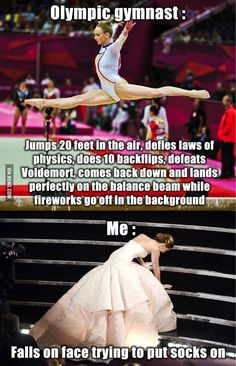 True story! You would never know I was I'm gymnastics for almost ten years either!