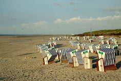 Norderney - Strandkörbe an der Weissen Düne