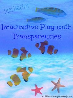 A fun way to encourage imaginative play on the light table! Check out how we made our farm and ocean small world play from overhead transparencies! Overhead Projector, Projector Ideas, Toddler Learning Activities, Craft Activities For Kids, Sensory Lights, Light Board, Small World Play, Kids Lighting, Ocean Themes