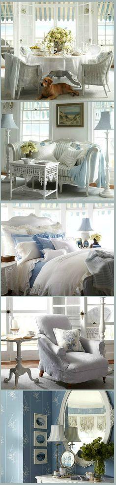 Cottage ● Blue White Decor. ...Ralph Lauren