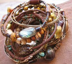 Anasazi Summer Gypsy Bangle Stack by DesertTalismans on Etsy