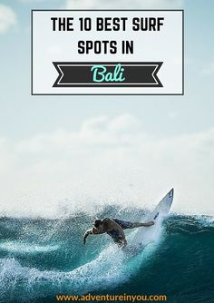 Looking for advice on where to go? Check out these ten awesome surf spots around Bali Surfing Images, Surfing Photos, Surfing Destinations, Best Surfing Spots, Bali Honeymoon, Surf Trip, Bali Travel, Surfs Up, Best Location