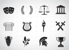 Ancient, greek culture. stock vector art 69761131 - iStock
