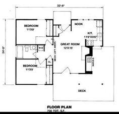 700 Sq. Ft. House Plan [09-006-225] from Planhouse - Home Plans, House Plans, Floor Plans, Design Plans