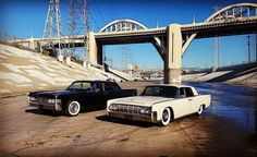 1965 Lincoln Continental (left) and 1964 Lincoln Continental (right)